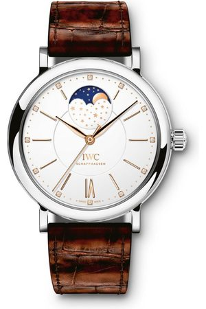 IWC SCHAFFHAUSEN Stainless Steel Portofino Automatic Moon Phase Watch 37mm