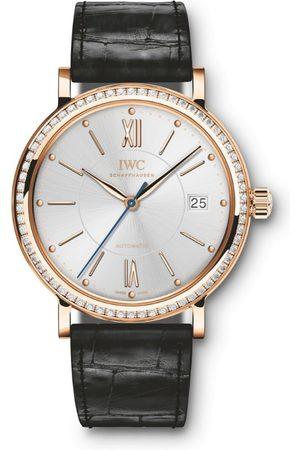 IWC SCHAFFHAUSEN Rose Gold and Diamond Portofino Automatic Watch 37mm