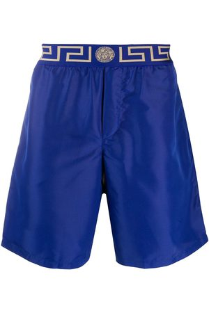 VERSACE Greca Border knee-length swim shorts