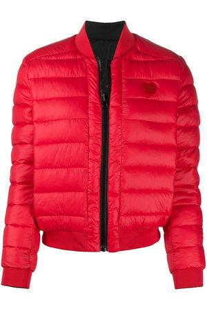 Love Moschino Logo patch padded jacket