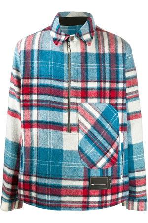 We11 Done Jackets - Checked-print shirt jacket