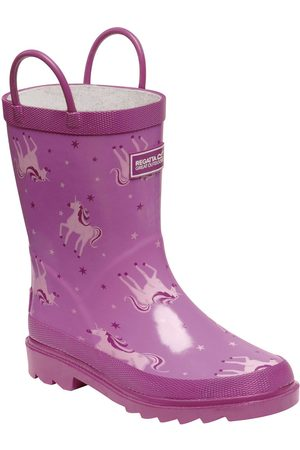 Regatta Minnow Unicorn Print Junior Welly