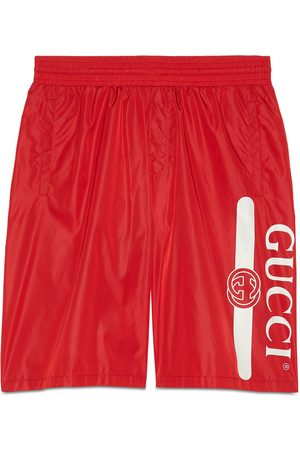 Gucci Men Swim Shorts - Logo print swim shorts