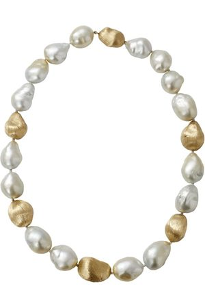 YVEL 18kt yellow gold baroque pearl necklace - YLWGOLD