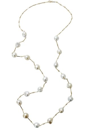 YVEL 18kt yellow gold south sea pearl Station necklace - YLWGOLD