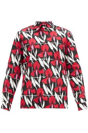 Prada Floral-print Cotton-poplin Shirt - Mens