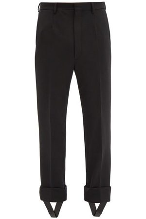 Prada Detachable-stirrup Gabardine Trousers - Mens