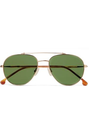 Loro Piana Roadster 54 Aviator-Style -Tone Titanium and Acetate Polarised Sunglasses