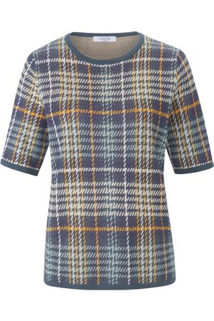 mayfair by Peter Hahn Round neck jumper short sleeves multicoloured size: 10