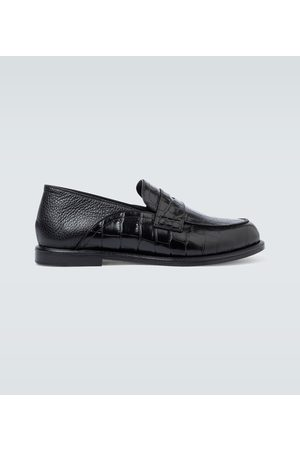 Loewe Slip-on leather loafers