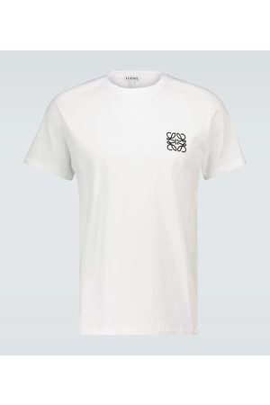 Loewe Anagram embroidered cotton T-shirt