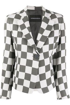 Emporio Armani Checkered print notched lapel blazer