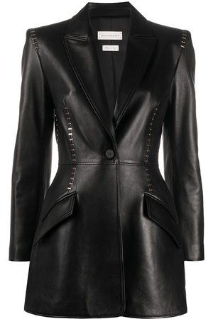 Alexander McQueen Stapled leather blazer