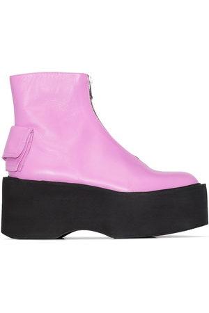 Natasha Zinko Zip-front 80mm platform boots