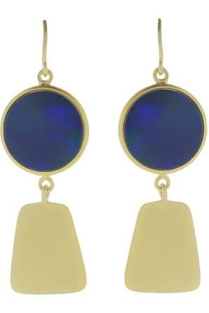 Sylva & Cie 18kt yellow gold Maya Collection opal earrings - YLWGOLD