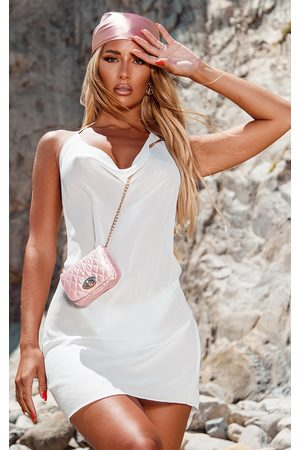 PRETTYLITTLETHING Knot Back Beach Dress