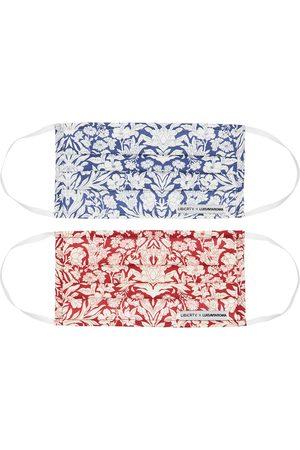 Liberty Pack Of 5 Sea Grass Print Face Masks