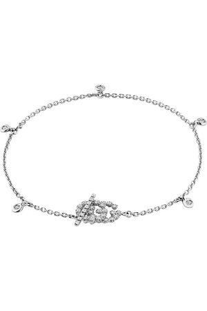 Gucci Women Bracelets - 18kt white gold GG Running diamond bracelet