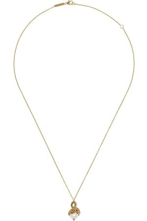 STEPHEN WEBSTER 18kt yellow Gemini Astro Ball pearl pendant necklace