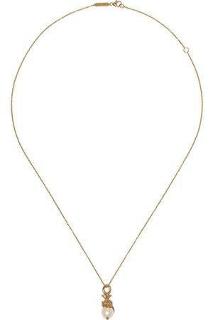 STEPHEN WEBSTER 18kt yellow Pisces Astro Ball pearl necklace