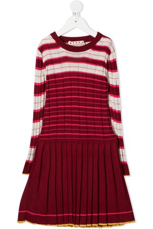 Marni Pleated skirt knitted dress