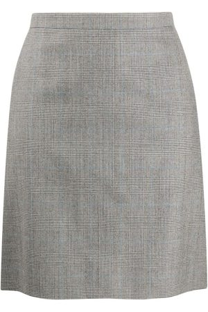 Alexander McQueen Prince of Wales print skirt