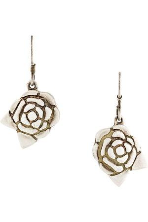 Chanel Pre-Owned Camélia flower earrings - Metallic