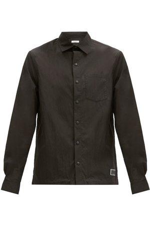 Valentino Rubber Logo-patch Cotton-blend Poplin Shirt - Mens