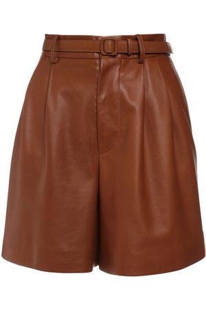 Ralph Lauren High Waist Leather Shorts