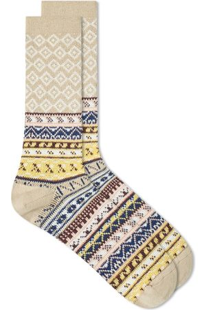 ANONYMOUS ISM Fair Isle Jacquard Crew Sock