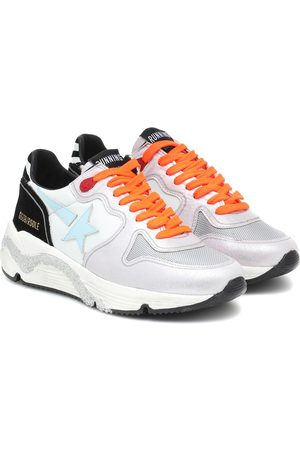 Golden Goose Running leather and mesh sneakers