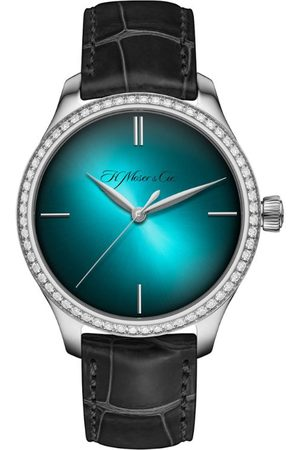 H. Moser & Cie Men Watches - Steel and Diamond Endeavour Centre Seconds Watch 38mm