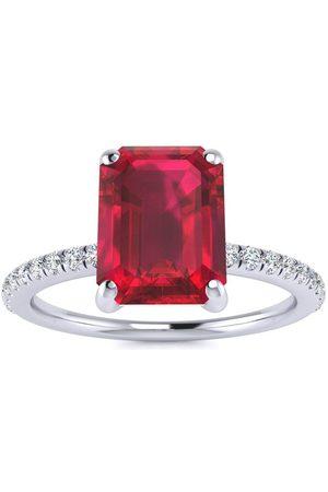 SuperJeweler 3 Carat Ruby & 22 Diamond Ring in 14K (2.6 g), I-J, Size 4