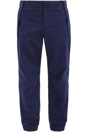 Moncler Men Ski Suits - Elasticated-waist Gore-tex Ski Trousers - Mens - Navy