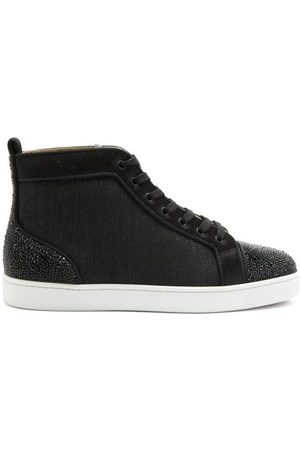 Christian Louboutin Louis P Strass Ii Canvas High-top Trainers - Mens - Multi
