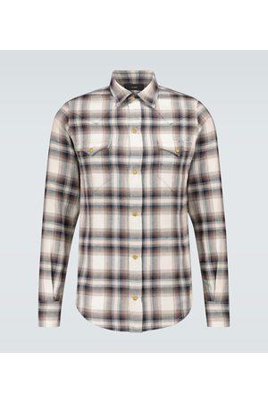 Alanui Cotton flannel checked shirt