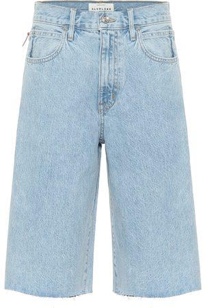 SLVRLAKE Women Shorts - High-rise denim shorts