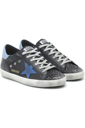 Golden Goose Women Trainers - Superstar leather and mesh sneakers