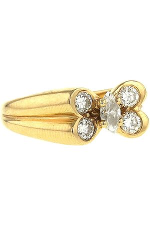 Van cleef 1980s pre-owned yellow butterfly diamond ring