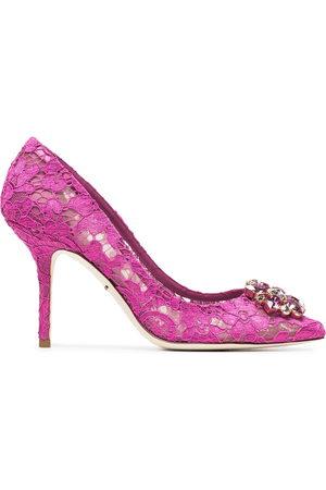 Dolce & Gabbana Women Heels - Belucci Taormina lace 90mm pumps