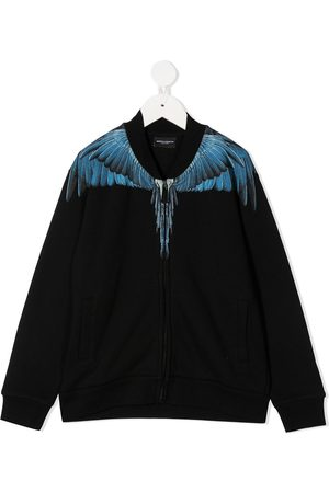 MARCELO BURLON Wings-print zip-up bomber jacket
