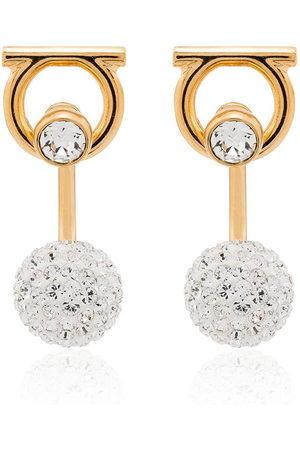 Salvatore Ferragamo Women Earrings - Gancini crystal-embellished earrings