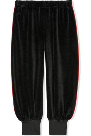 Gucci Chenille gathered ankles track pants