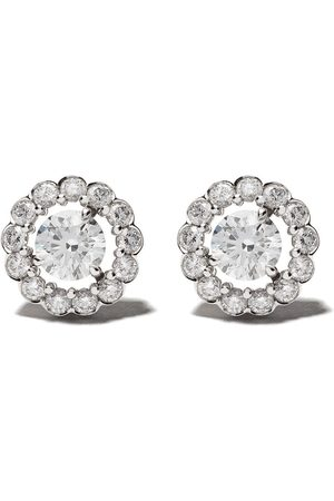 David Morris 18kt Elizabeth single stone diamond stud earrings