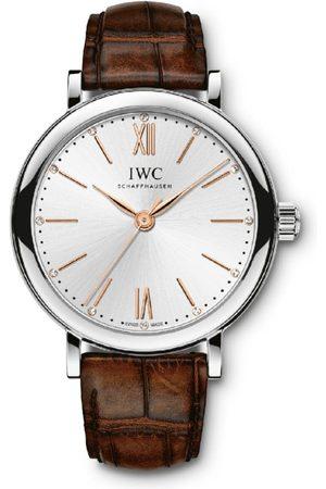 IWC SCHAFFHAUSEN Stainless Steel and Diamond Portofino Automatic Watch 34mm