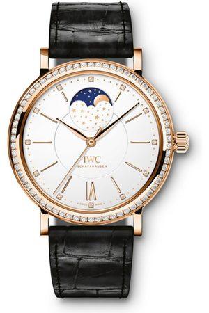 IWC SCHAFFHAUSEN Red Gold and Diamond Portofino Moon Phase Watch 37mm