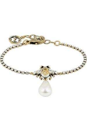 Gucci Bee Motif Crystal Embellished Bracelet