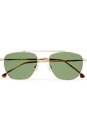 Loro Piana Open 54 Aviator-Style Titanium and Acetate Polarised Sunglasses
