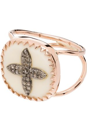 Pascale Monvoisin 9kt rose Bowie No 2 diamond cross ring - ROSE