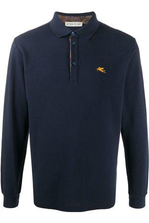 ETRO Longsleeved cotton polo shirt